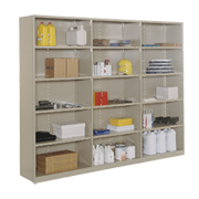 Closed Metal Shelving