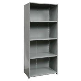 Closed 5 shelf heavy duty starter