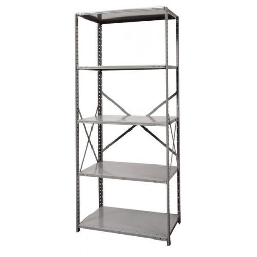open metal shelving unit with 5 shelves heavy duty. Black Bedroom Furniture Sets. Home Design Ideas