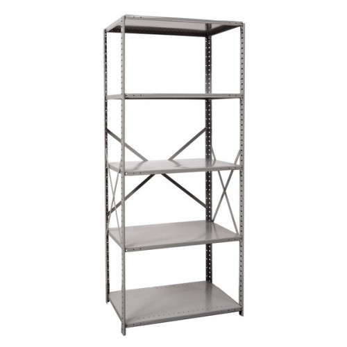 open metal shelving unit with 5 shelves extra heavy duty. Black Bedroom Furniture Sets. Home Design Ideas