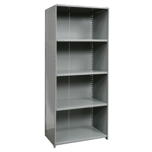 Closed Metal Shelving Unit with 5 Shelves Heavy-Duty ...