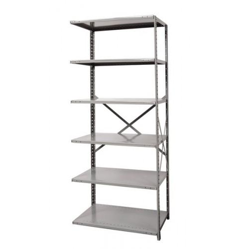 open metal shelving unit with 6 shelves medium duty