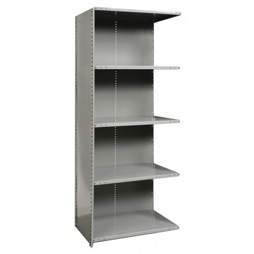 closed metal shelving unit with 5 shelves extra heavy duty. Black Bedroom Furniture Sets. Home Design Ideas
