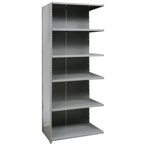 closed metal shelving unit with 6 shelves heavy duty. Black Bedroom Furniture Sets. Home Design Ideas