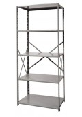 "Open Metal Shelving Unit with 5 Shelves Heavy-Duty 36""x  24"" x 87"""