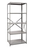 "Open Metal Shelving Unit with 5 Shelves Heavy-Duty 48"" x 24"" x 87"""