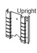 "Automotive Shelving 96"" High Uprights"