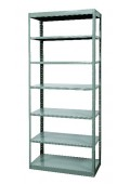 "7-Shelf Units Heavy-Duty Pass-Thru Shelving 36"" x 12"" x 87"""