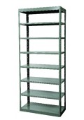 "8-Shelf Units Heavy-Duty Pass-Thru Shelving 48"" x 18"" x 87"""