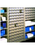 Automotive Shelving with Bin Boxes