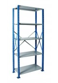 "H-Post Open Shelving Unit - Extra Heavy Duty -5-shelf 48"" x 24"" x 123"""