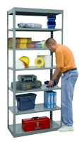 Pass Thru Metal Shelving Provides Easy Access
